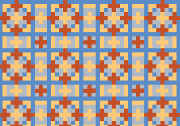 Squared Geometric Pattern Bakground - Kostenloses vector #355151