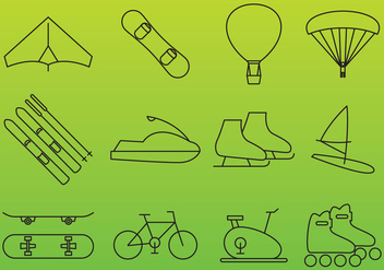 Recreation Vector Icons - vector #355211 gratis