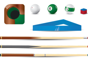 Pool Stick Vector Set - Free vector #355281