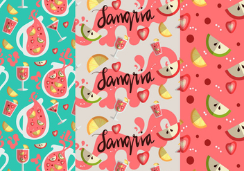 Sangria Pattern Vector Set - бесплатный vector #355361