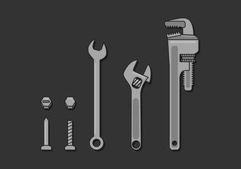 Vector Monkey Wrench - Free vector #355631