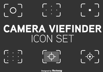 Viewfinder Line Style Vector Icons - бесплатный vector #355641