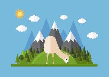 Vector Mountain Llama - Kostenloses vector #355661