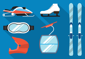 Winter Sport Vectors - vector gratuit #355721
