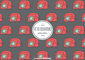 Retro Telephone Background - vector gratuit(e) #355751