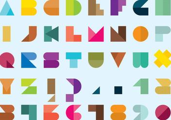 Geometric Bauhaus Style Vector Type - Free vector #355871