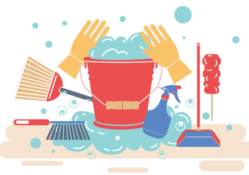 Spring Cleaning Vector - Free vector #355961