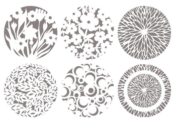 Laser Cut Decorative Vectors - vector gratuit #356001