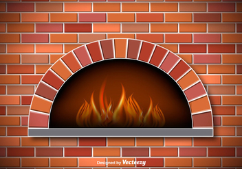 Vector Rustic Pizza Oven - vector #356201 gratis