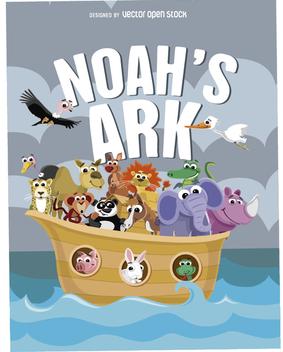 Noah's Ark Poster - бесплатный vector #356451
