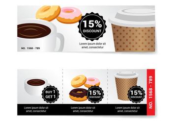 Free Coffee Voucher Vector - Kostenloses vector #356531