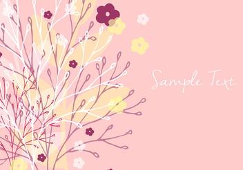 Decorative Floral Wallpaper - бесплатный vector #356561