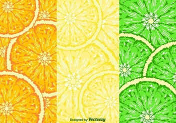 Fruit Slices Pattern Vector - vector gratuit #356631