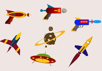 Galactic Battle Laser Gun Vectors - vector gratuit #356771