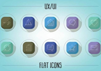 Free Flat UX/UI Icons Vector - Free vector #356861