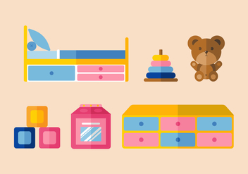 Vector Kids Room - vector gratuit #356911