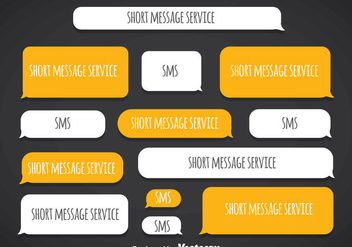 Short Message Service Blank Template Vector - Kostenloses vector #357121