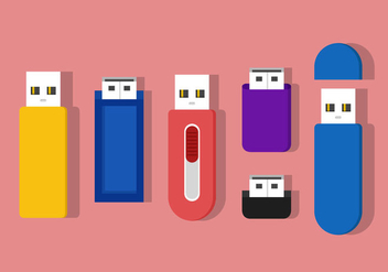Pen Drive Vector Icons - бесплатный vector #357221