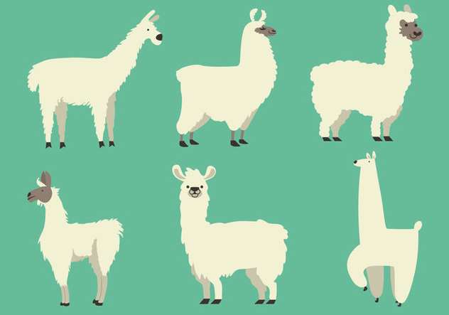 Vector Llamas Free Vector Download 357281 | CannyPic