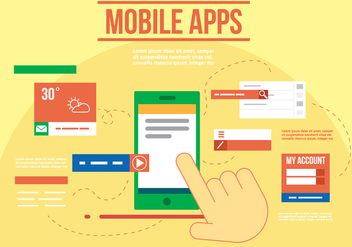 Free Mobile Apps Vector - Free vector #357291
