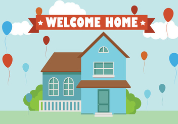Welcome Home Background Flat vector - Free vector #357481