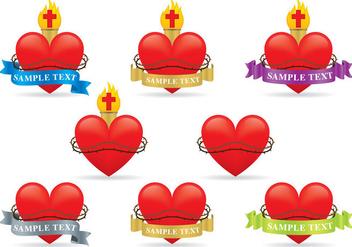 Sacred Heart Vectors - Kostenloses vector #357571