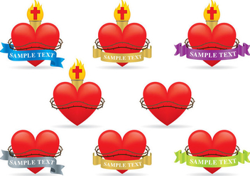 Sacred Heart Vectors - бесплатный vector #357571