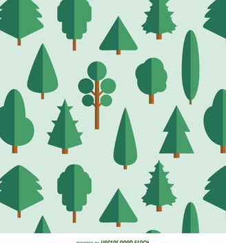 20 Flat Trees - varied kinds - vector gratuit #357681