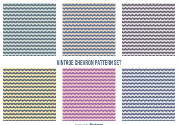 Retro Hipster Style Chevron Pattern Set - Free vector #357751