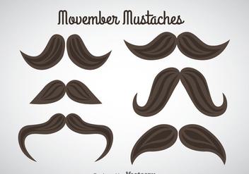 Movember Mustaches Vector - Free vector #357971
