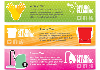 Spring Cleaning Banners - Free vector #358041