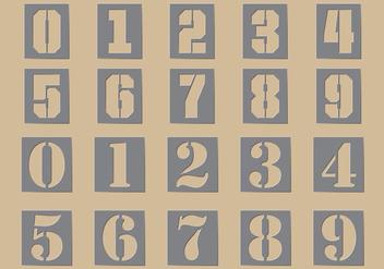 Stencil Number Vectors - Kostenloses vector #358051