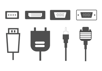 HDMI Computer Connectors Vectors - Kostenloses vector #358171