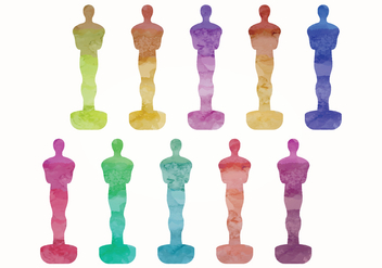 Vector Oscar Statues - бесплатный vector #358471