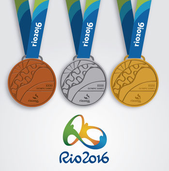 Rio 2016 - 3 medals design - Free vector #358501