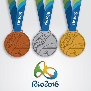 Rio 2016 - 3 medals design - vector #358501 gratis