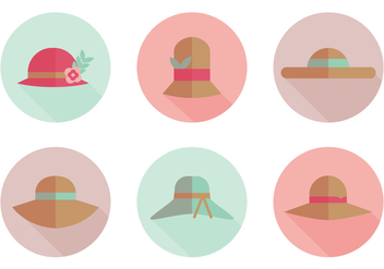 Flat Hat Vector Icons - Free vector #358671