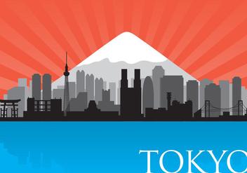 Tokyo Skyline Vector - Free vector #358701