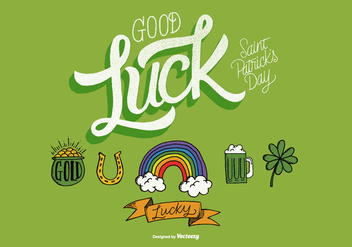 St. Patrick's Day Hand Drawn Illustrations - Free vector #358751