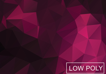 Low Poly Background Vector - vector gratuit #358911
