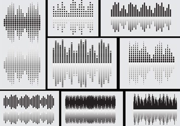 Sound Bars Icon Vectors - Free vector #359061