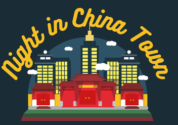 China Town Night Vector - Kostenloses vector #359301