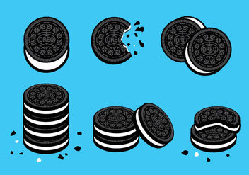 Oreo Cookies vector - Free vector #359351