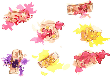 Handpainted Crepes Vector Set - Kostenloses vector #359461