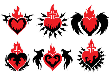 Sacred Heart Vector - Free vector #359491