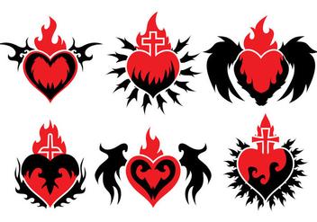 Sacred Heart Vector - vector gratuit #359491