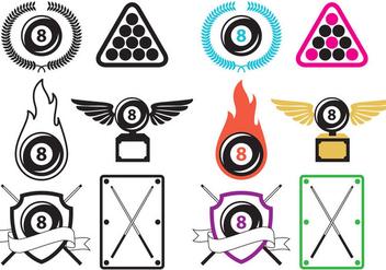 Billiard Logo Vectors - Kostenloses vector #359581