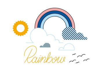 Free Rainbow Vector - Kostenloses vector #359851