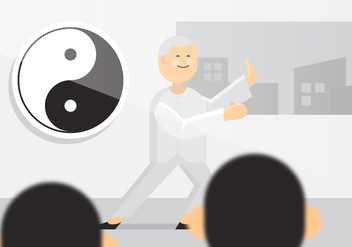 Vector Tai Chi Old Man - vector gratuit #359941