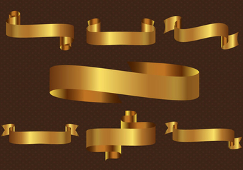 Free Gold Ribbon Vector - бесплатный vector #360231